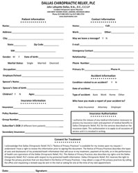 New Patient Registration Packet